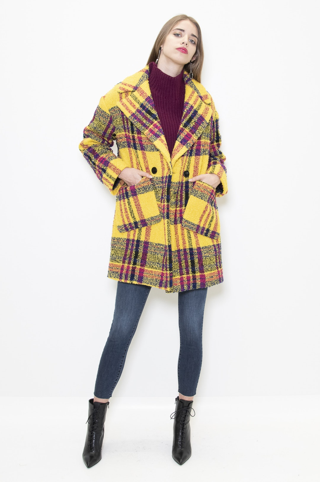 more photos f6f51 5dd81 Kontatto Online Shop > Cappotto scozzese donna
